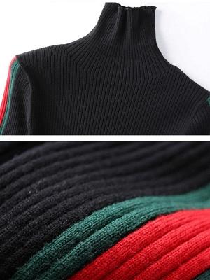 Solid Casual Sheath Long Sleeve Sweater_6