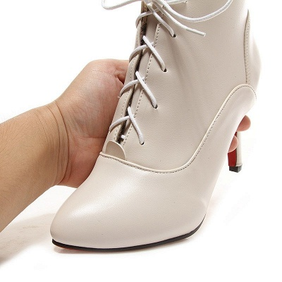 Lace-up Stiletto Heel Pointed Toe Elegant Boots_14
