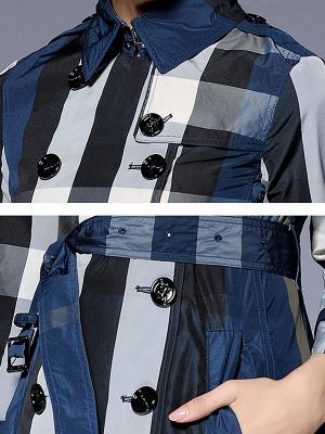 Shift Long Sleeve Checkered/Plaid Work Coat_8