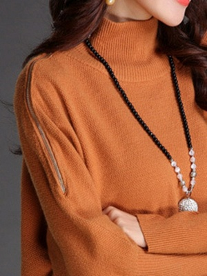 Long Sleeve Turtleneck Wool Sweater_6