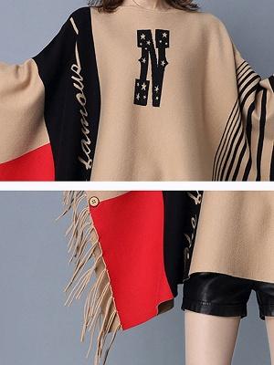 Khaki Casual Bateau/boat neck Sweater_5