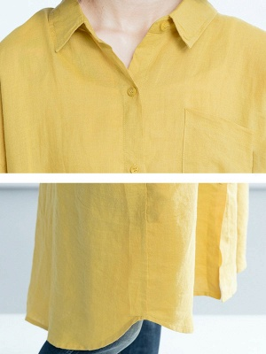 Shift Solid Long Sleeve Paneled Casual Coat_7