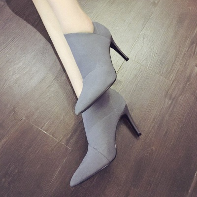 Pointed Toe Stiletto Heel Elegant Boots_4