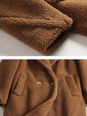 Long Sleeve Lapel Pockets Buttoned Coats_8