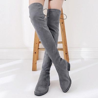 Suede Chunky Heel Buckle Boot_15