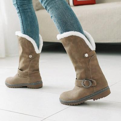 Women's Boots Round Toe Black Low Heel Boots_2