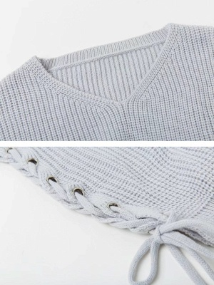 Cotton Casual Crew Neck Long Sleeve Shift Sweater_8