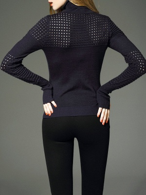 Cotton Eyelet Turtleneck Sweater_4