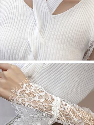 Plain Casual Long Sleeve Sweater_9