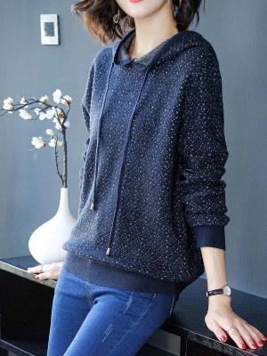 Hoodie Long Sleeve Casual Printed Sweater_3
