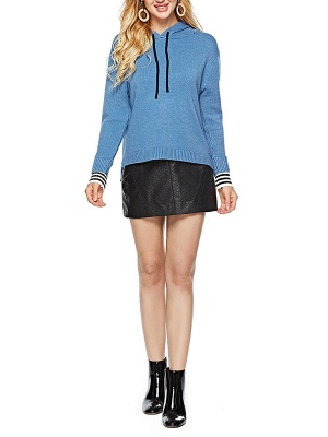 Long Sleeve Shift Casual Solid Sweater_11