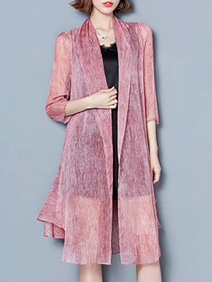 Asymmetrical Elegant Chiffon Coat_8