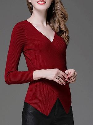 Cotton Sheath Casual Long Sleeve Sweater_3