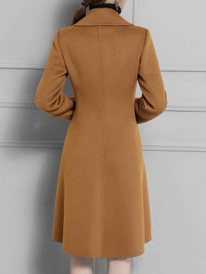 Casual Long Sleeve Lapel Solid Pockets Buttoned Coat_8