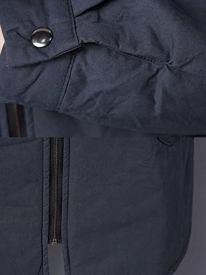 Zipper Hoodie Pockets Shift Long Sleeve Coat_7