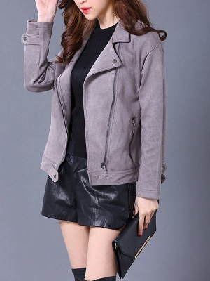 Shift Casual Solid Long Sleeve Coat_2