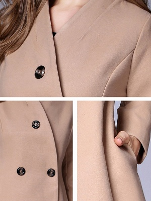 Casual Buttoned Solid Long Sleeve Coat_10