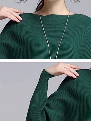 Wool Casual Batwing Sweaters_11