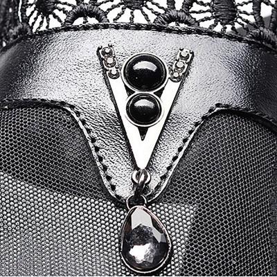 Chunky Heel Zipper Round Toe Elegant PU Boots_8