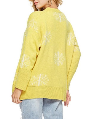 Long Sleeve Printed Casual Sweater_9