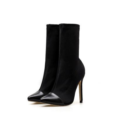 Stiletto Heel Pointed Toe Elegant Boots_2