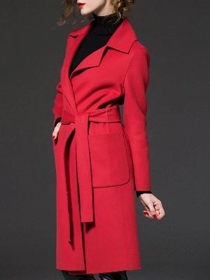 Long Sleeve Casual Lapel Buttoned Coat_6
