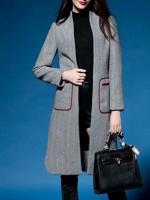 Shift Long Sleeve Pockets Solid Coat_2