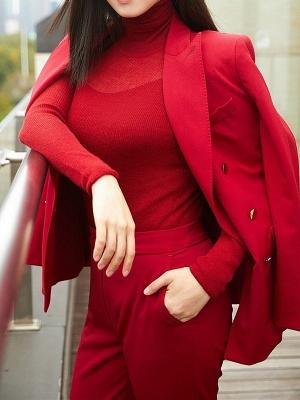 Long Sleeve Casual Sheath Sweater_1
