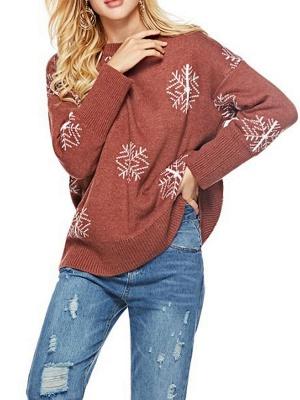 Long Sleeve Printed Casual Sweater_1