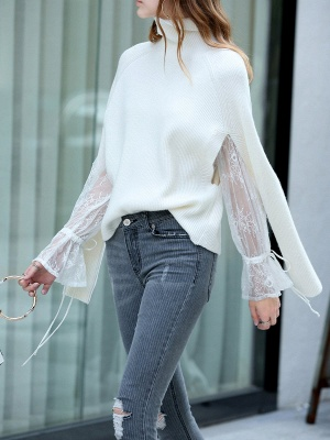 Casual Long Sleeve Cutout Sweater_6