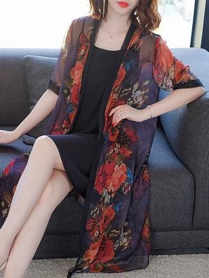 Elegant Printed Sunscreen Coat_1