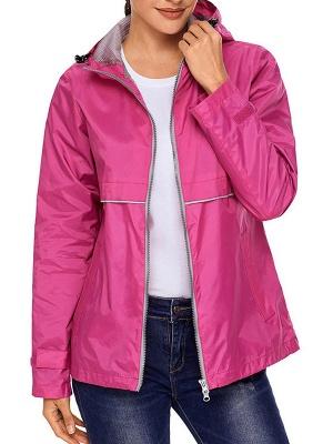 Shift Casual Long Sleeve Hoodie Zipper Pockets Solid Coat_2