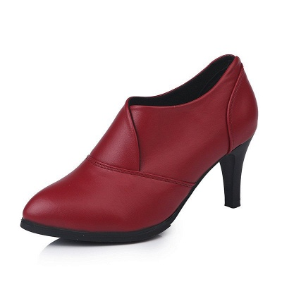 Daily Pointed Toe Cone Heel Elegant Boots_8