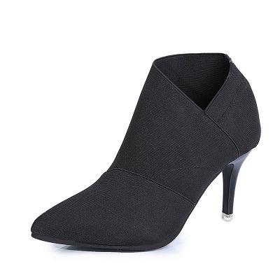 Pointed Toe Stiletto Heel Elegant Boots_1