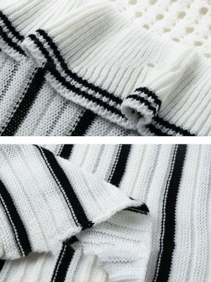 White Casual Printed Sweater_6