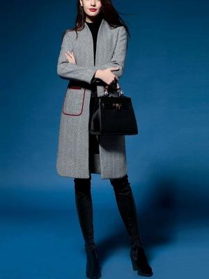 Shift Long Sleeve Pockets Solid Coat_7
