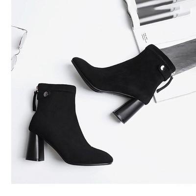 Zipper Daily Pointed Toe Elegant Boots_3