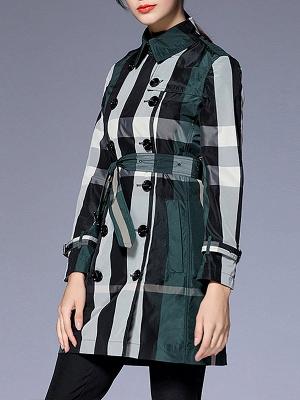 Shift Long Sleeve Checkered/Plaid Work Coat_4