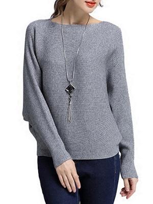 Wool Casual Batwing Sweaters_4