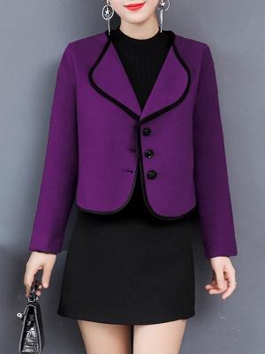 Long Sleeve Work Shawl Collar Coat_3
