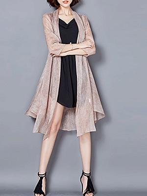 Asymmetrical Elegant Chiffon Coat_2