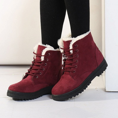 Daily Lace-up Round Toe Elegant Boots_6