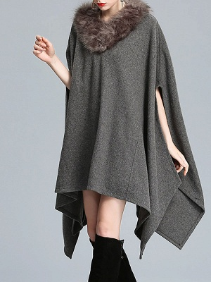 Casual Paneled Wool Shift Batwing Knit Top_9