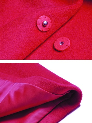 Long Sleeve Casual Lapel Buttoned Coat_7