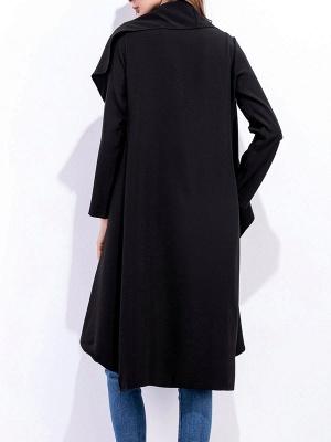 Work Long Sleeve Asymmetric Casual Coat_4