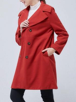 Shawl Collar Long Sleeve Casual Coat_9