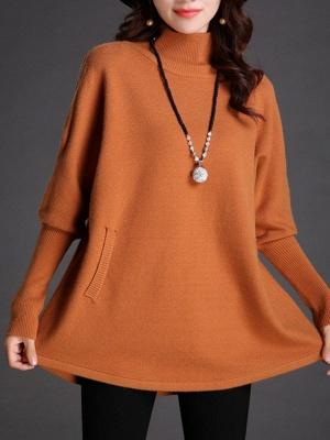 Long Sleeve Turtleneck Wool Sweater_1