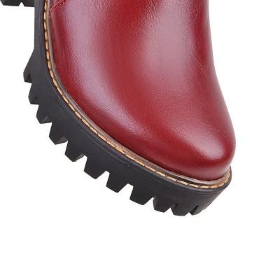 Daily Chunky Heel Zipper Round Toe Boots_20