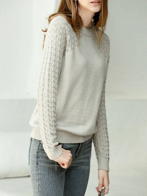 Casual Shift Long Sleeve Sweater_2