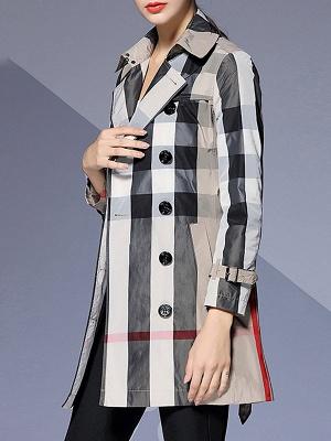 Shift Long Sleeve Checkered/Plaid Work Coat_2